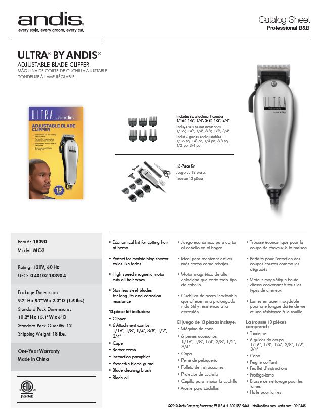 18390 Ultra Adjustable 12pc Clipper Kit