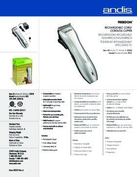 22510 RCC Freedom� Rechargable Cord/Cordless Clipper
