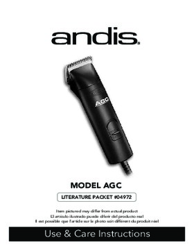 22545 AGC 1-Speed Detachable Blade Clipper Kit Use and Care