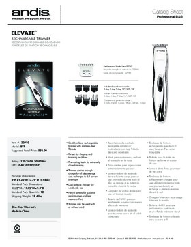 22910 Elevate™ Cordless T-Blade Trimmer
