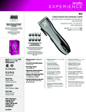24155 Experience� RCX Cordless Adjustable Blade Clipper