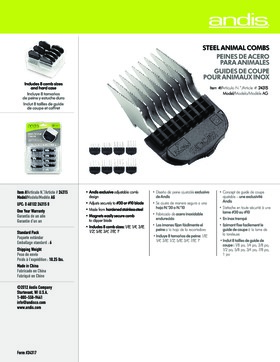24315 8-Piece Stainless-Steel Comb Set