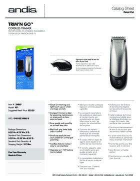 24865 Trim 'N Go Cordless Trimmer Catalog Sheet