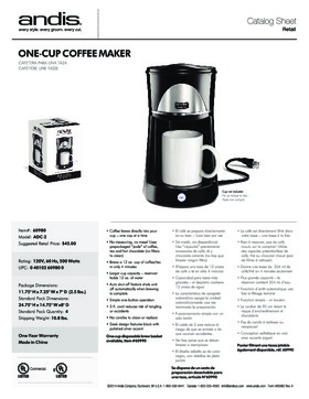 60980 1-Cup Coffee Maker