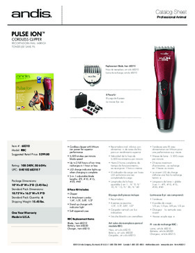 68310 ProClip Pulse Ion™ Adjustable Blade Clipper - Burgundy