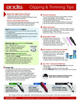 Andis Guide - Clipper Trimmer Tips