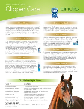 Equine Clipper Care