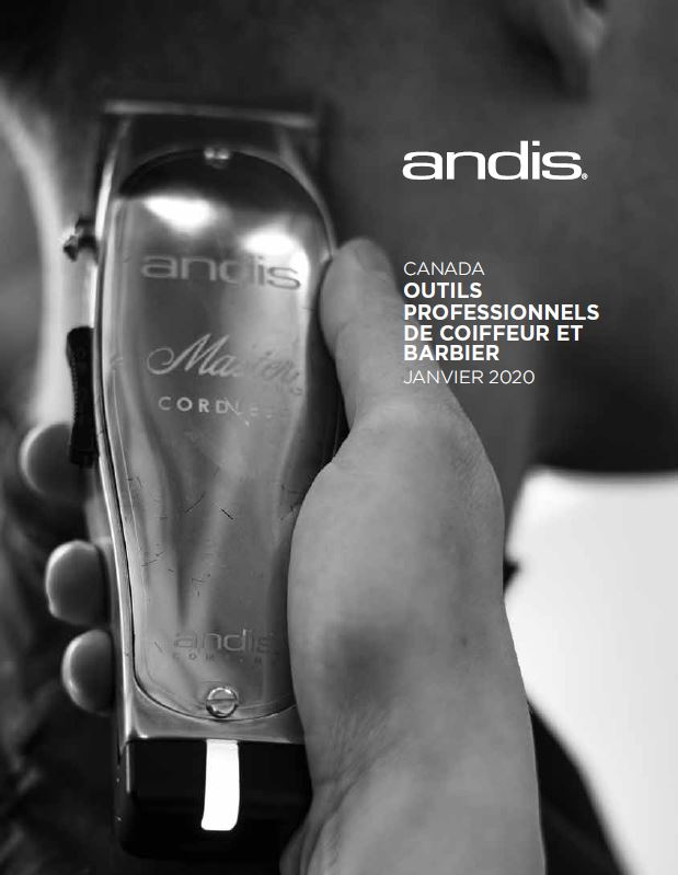 Andis Barber & Beauty Canadian Catalog — French