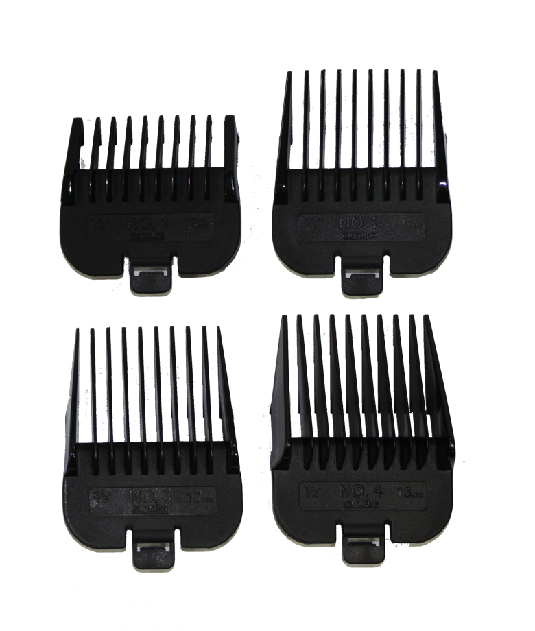4-Piece Comb Set Attachment Combs and Accessories