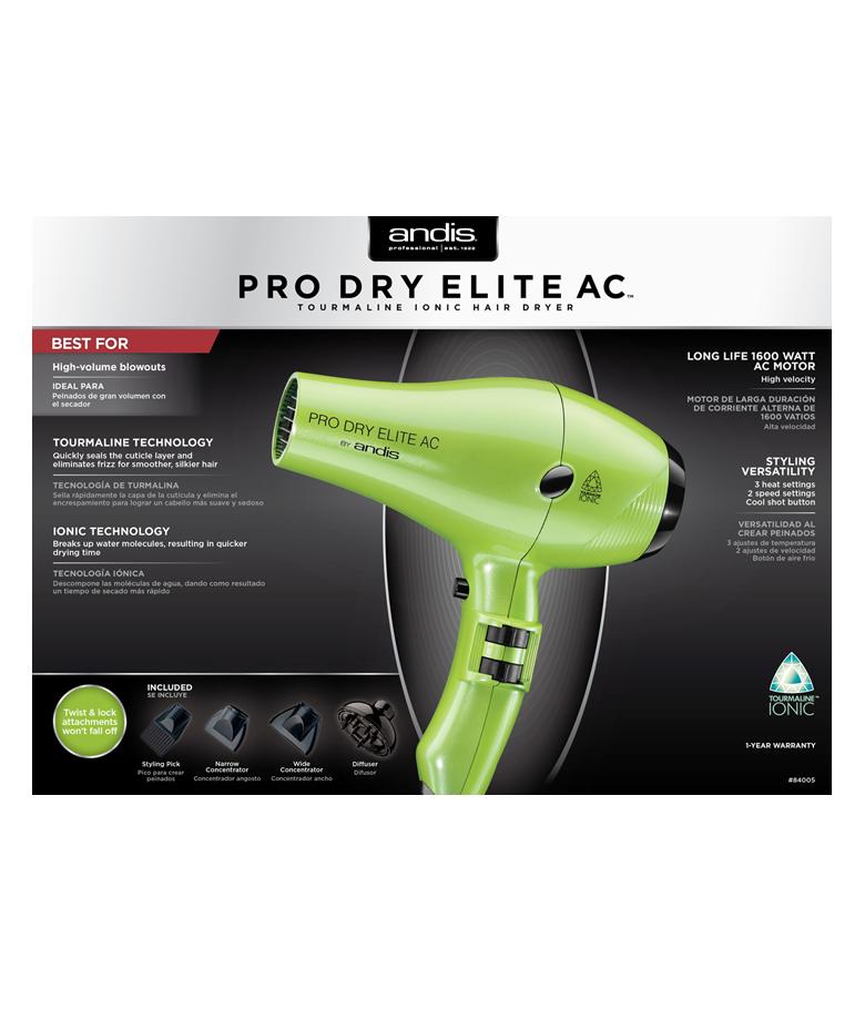 Andis ProDry Elite Lime Green 1600W