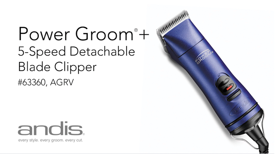 63360 - Power Groom®+ 5-Speed Detachable Blade Clipper