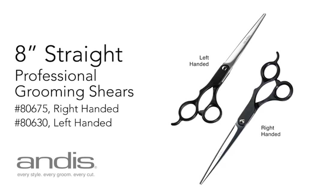 80675-80630 - 8in-Straight-Shears-RightLefAndis Professional Animal Grooming Shears - 8 inch Straight Shears