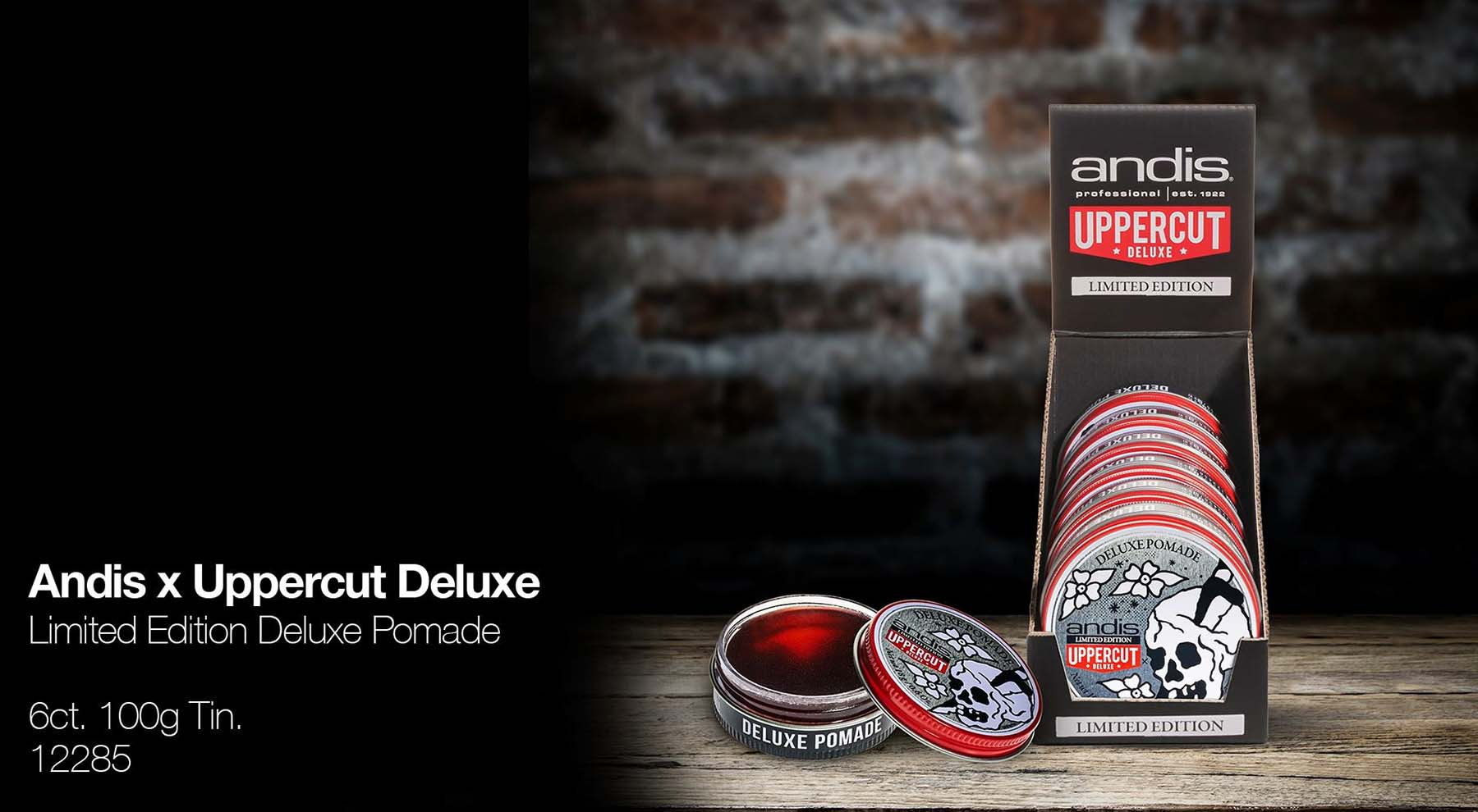 Andis x Uppercut Deluxe Pomade